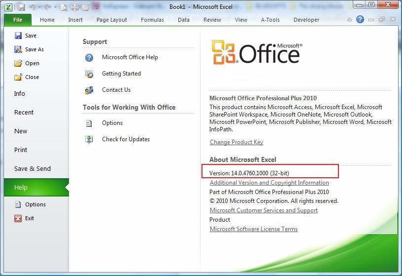 How to know what's version of MS Office